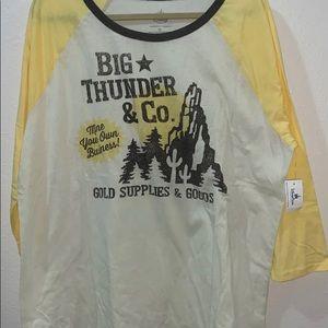 NWT Disney Big Thunder Mountain Raglan Tshirt 1X